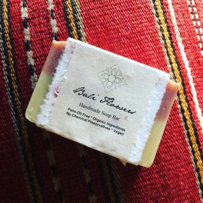 bali flowers soap bar