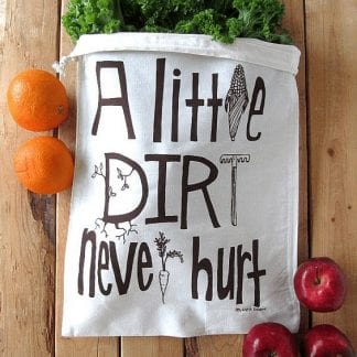 a little dirt reusable produce bag