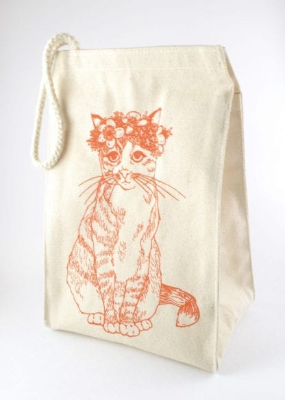 classy cat lunch bag
