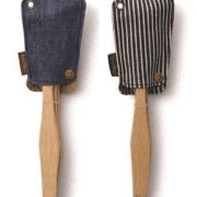 Bamboo Travel Utensil Set – Organic Cotton Stripe