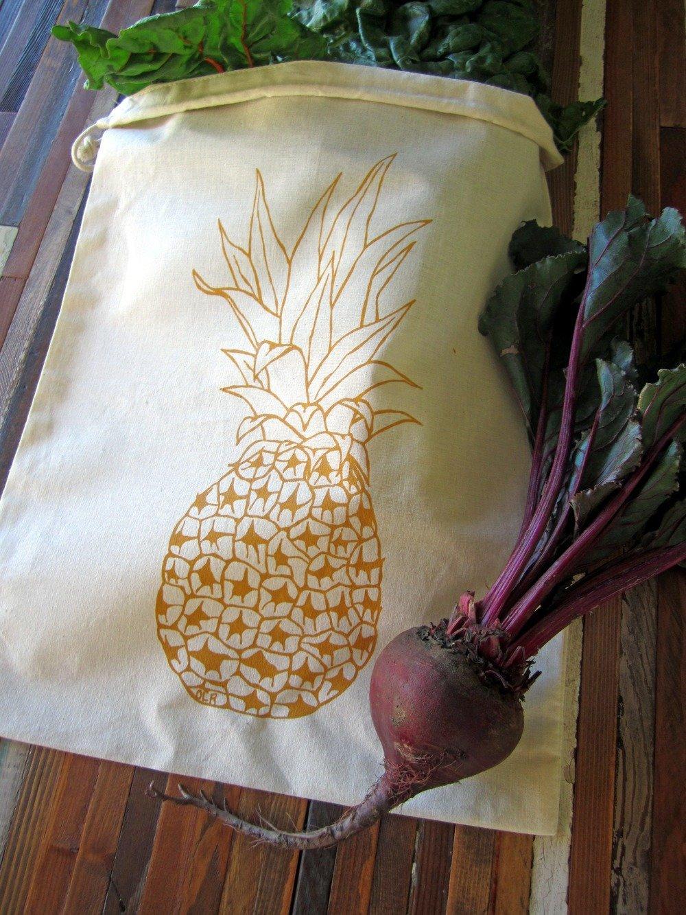 Pineapple Reusable Produce Bag - tiny yellow bungalow
