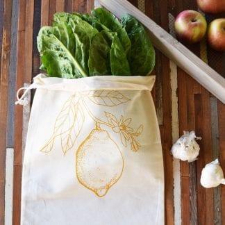 lemon reusable produce bag