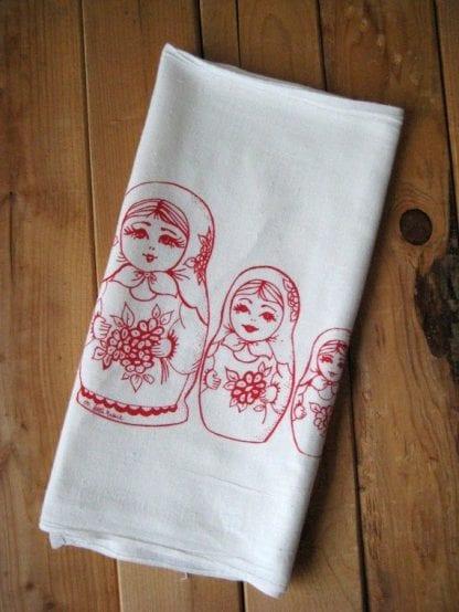 Nesting Dolls Cloth Napkin