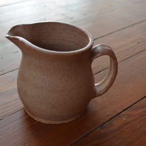 handcrafted ceramic creamer