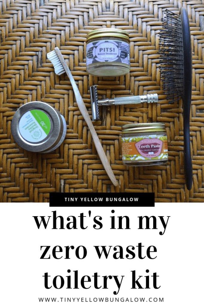 zero waste toiletry kit