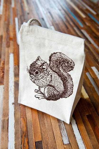 squirrel lunch bag