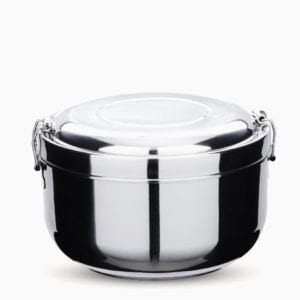 Stainless Steel 2 Layer Double Walled Lunch Container