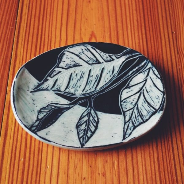 Hand Carved Ceramic Soap Dish