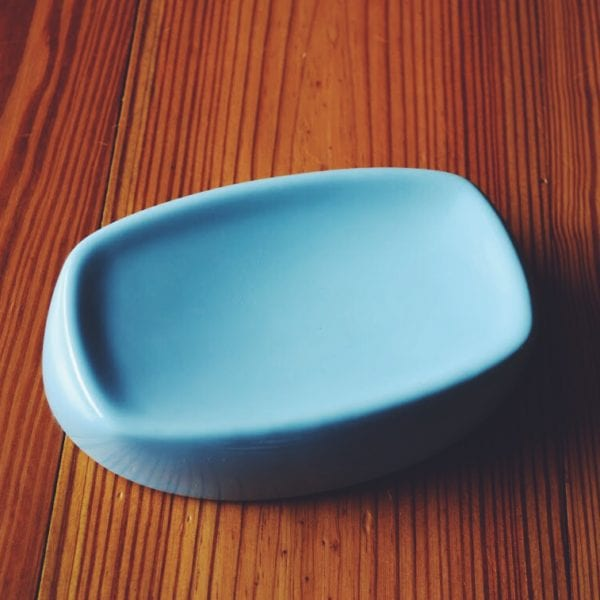 Simple Pale Blue Soap Dish