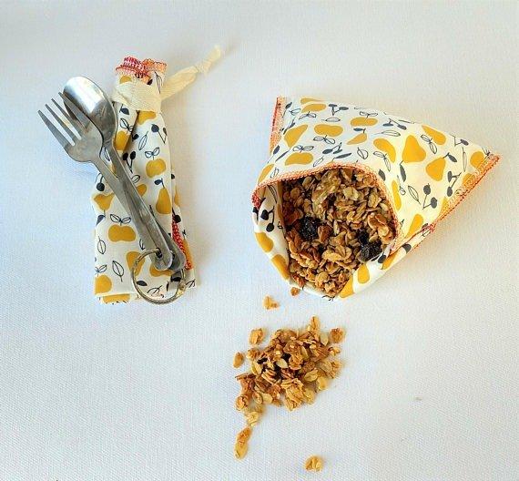 cotton reusable snack bag