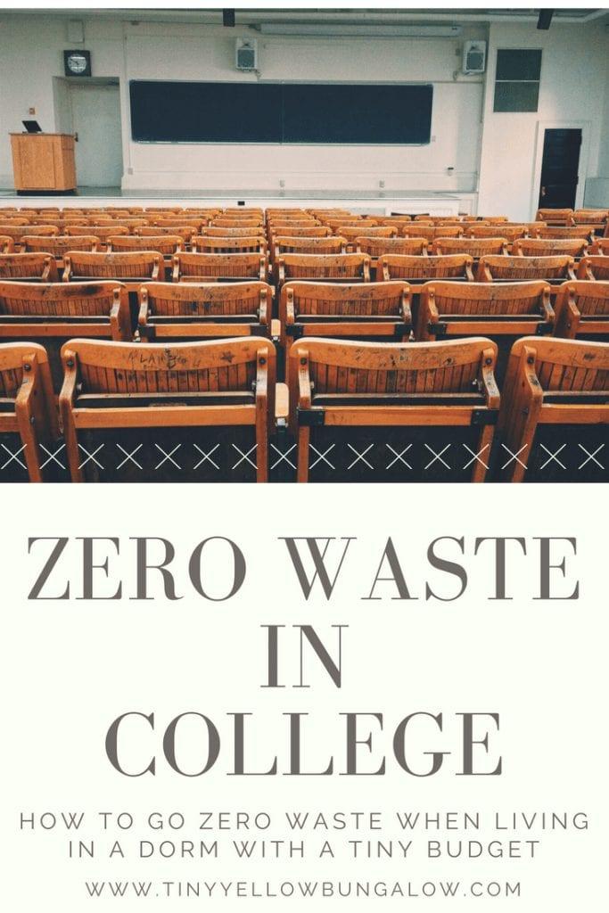 zero waste in college