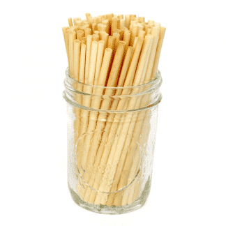 biodegradable straws made from wheat stems