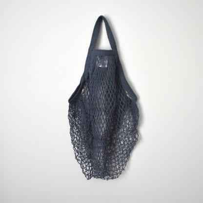 Navy Reusable Cotton String Bag