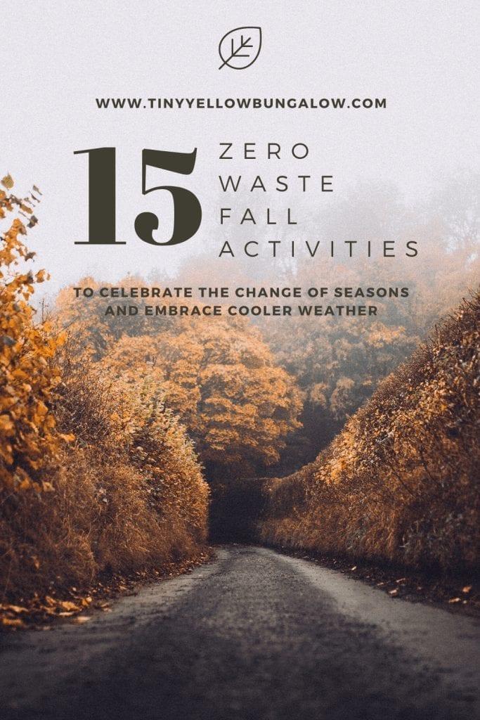 zero waste fall activities