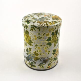 vintage floral tin