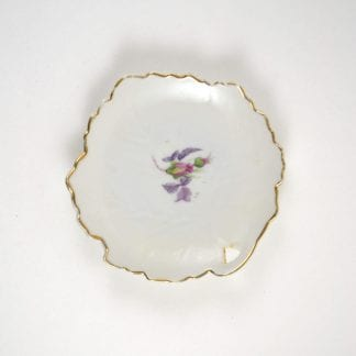 Small Vintage Floral Dish