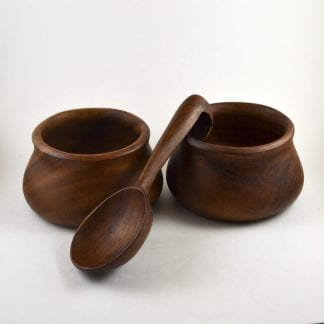 Wooden Bowls and Spoon Set