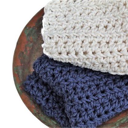 Handmade 100% Recycled Cotton Washcloth