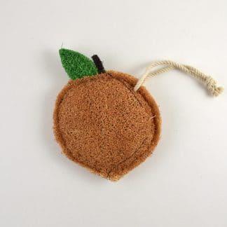 Peach Natural Loofah Kitchen Scrubber